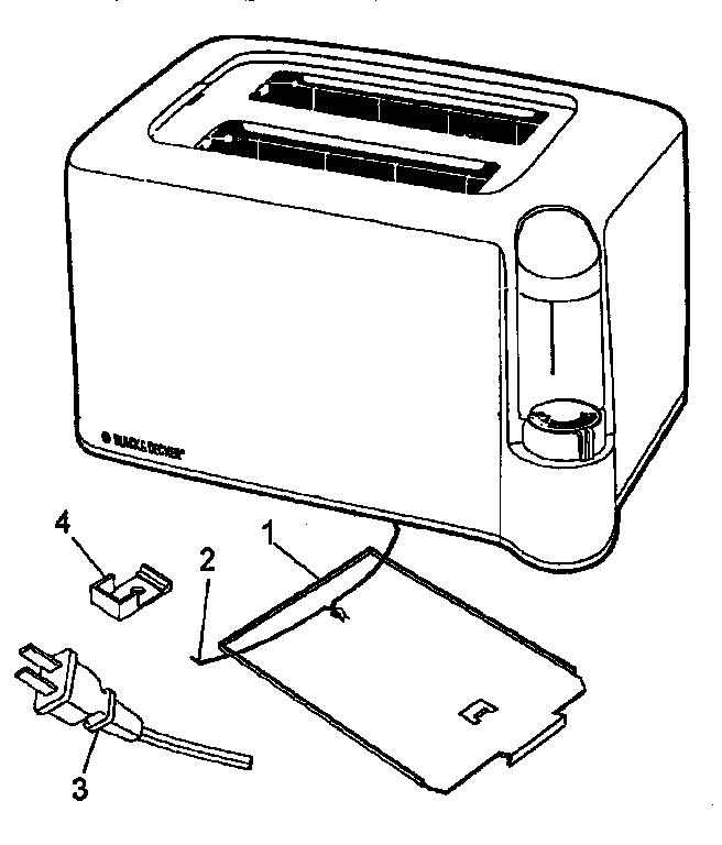 Black-Decker model T270 toaster genuine parts
