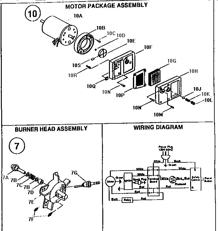 Desa model R150B space heaters/wall unit genuine parts