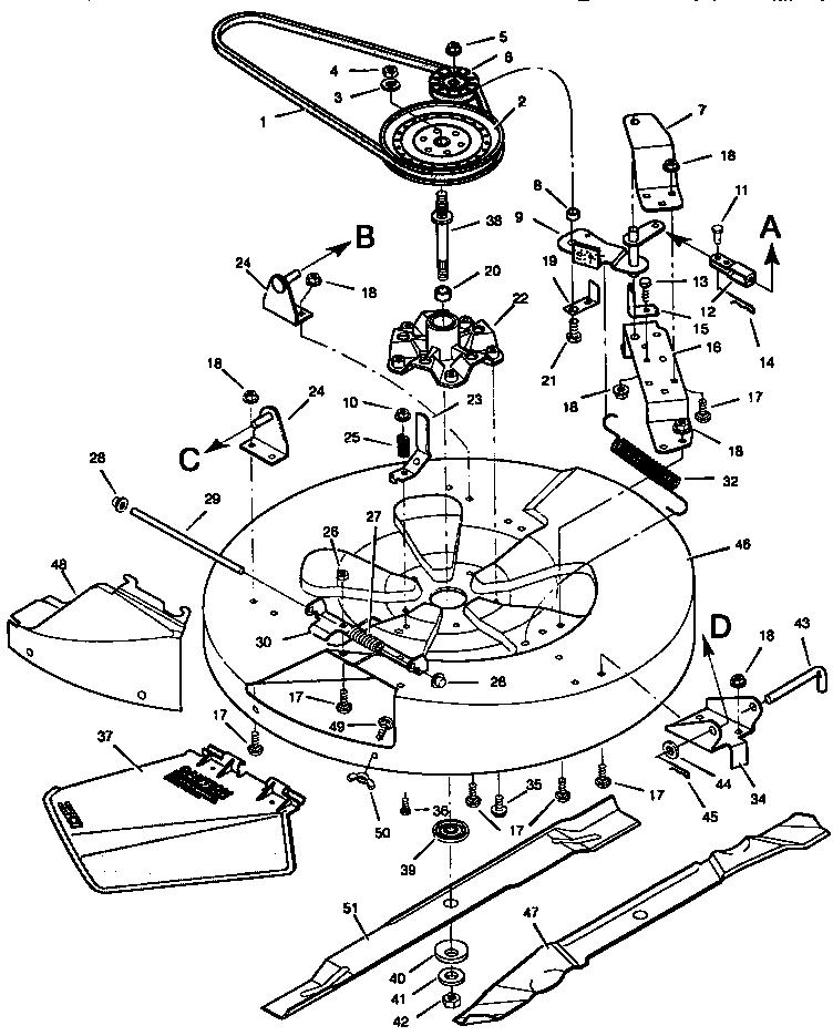 Craftsman model 502251250 lawn, riding mower rear engine