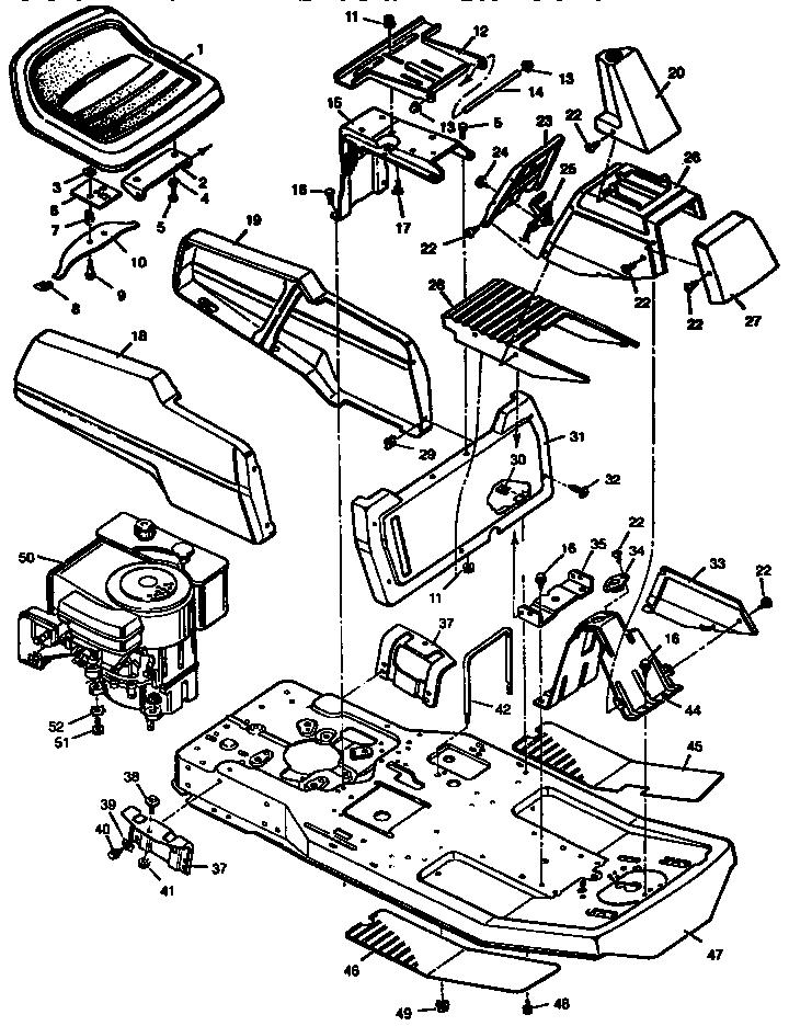 Craftsman model 502255031 lawn, tractor genuine parts