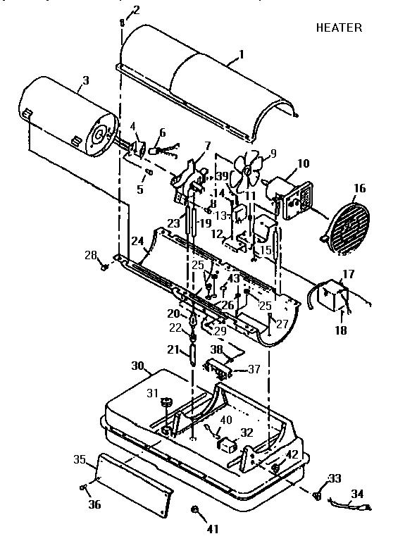 Desa model REM110 space heaters/wall unit genuine parts