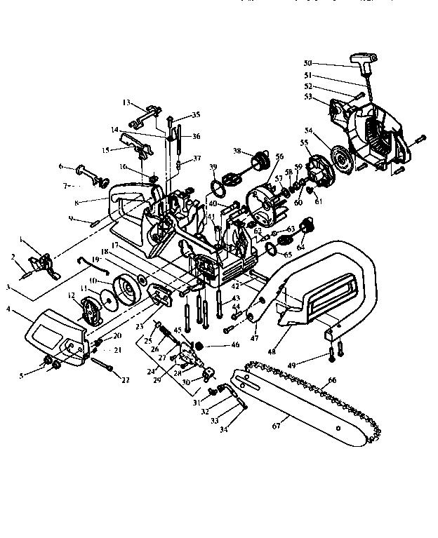 Craftsman model 358351140 chainsaw, gas genuine parts