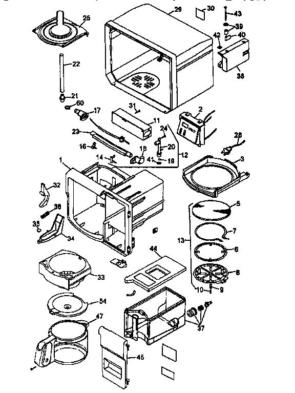 Black-Decker model ODC150-04 coffee/tea maker genuine parts