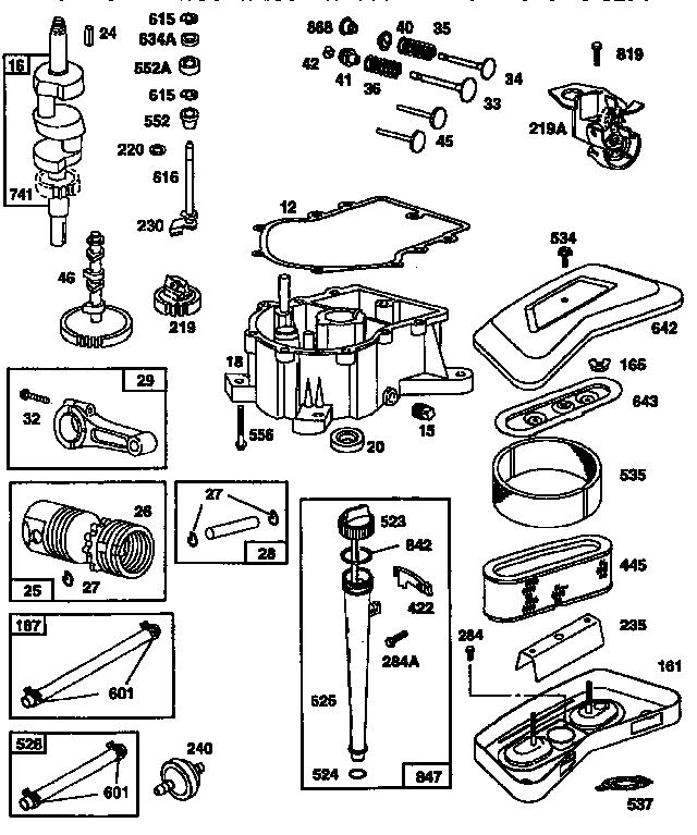 Briggs-Stratton model 42A707-1299 engine genuine parts