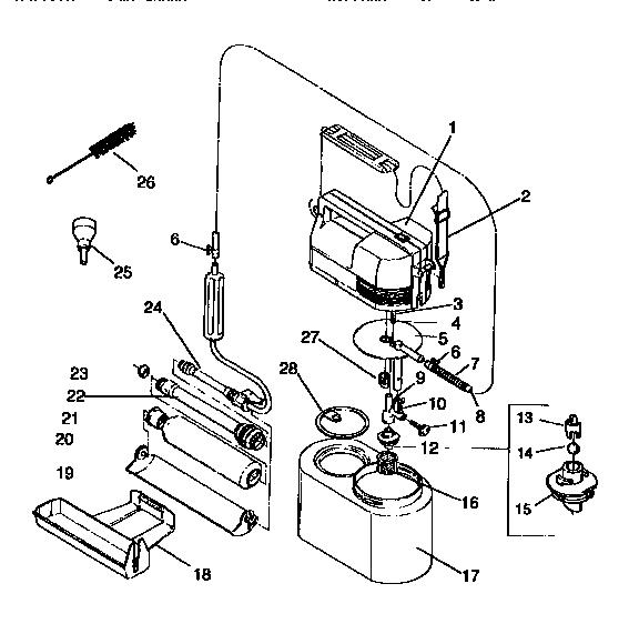 Wagner model 929 power roller genuine parts