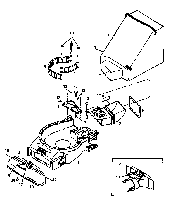 Troybilt model 47291 chipper shredder/vacuum, gas genuine
