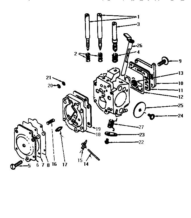 Mcculloch model PRO MAC 610 chainsaw genuine parts
