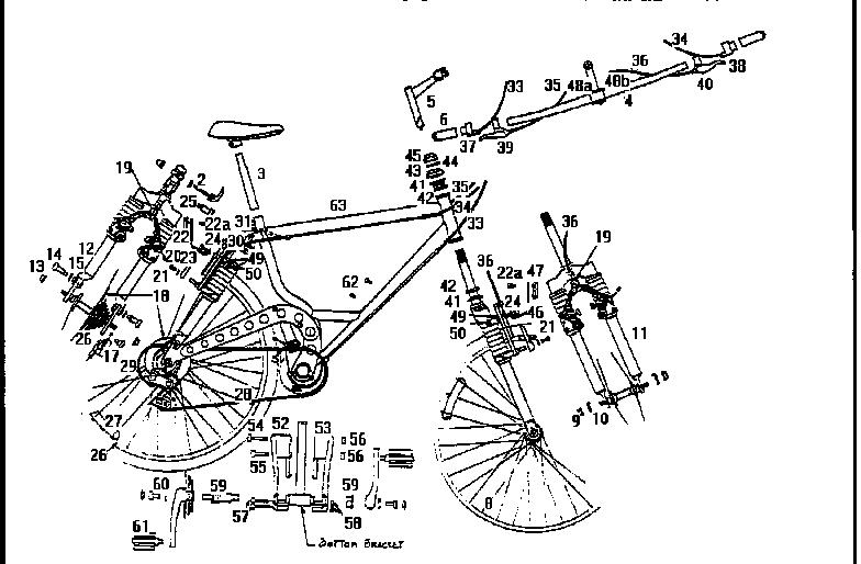 bike parts diagram 66 phone block wiring roadmaster model 3884sr bicycles genuine main assembly