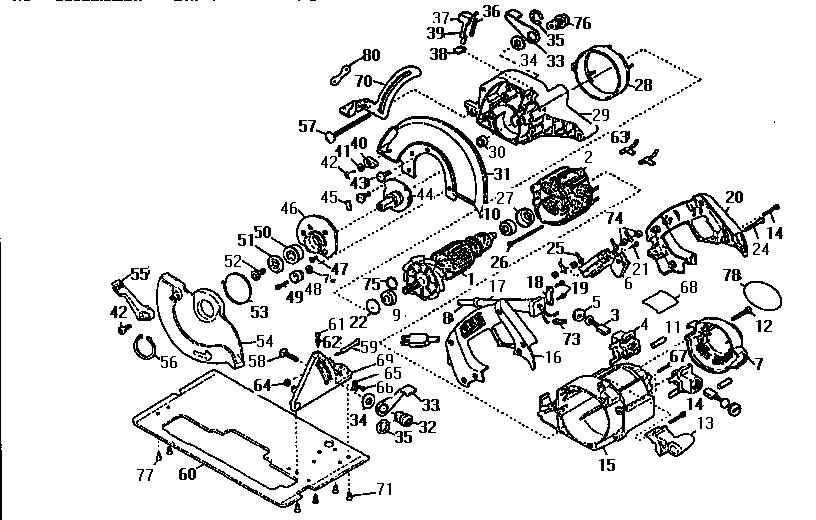 Dewalt model DW360 circular saw genuine parts