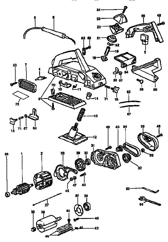 Dewalt model DW675 planer genuine parts