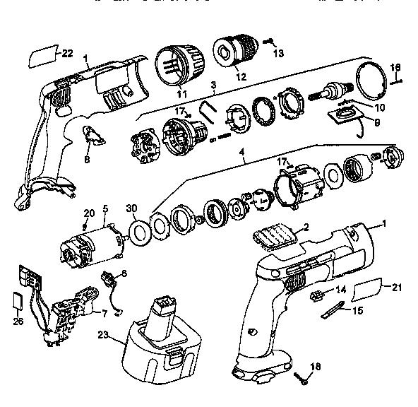 Dewalt model DW996 drill hammer genuine parts