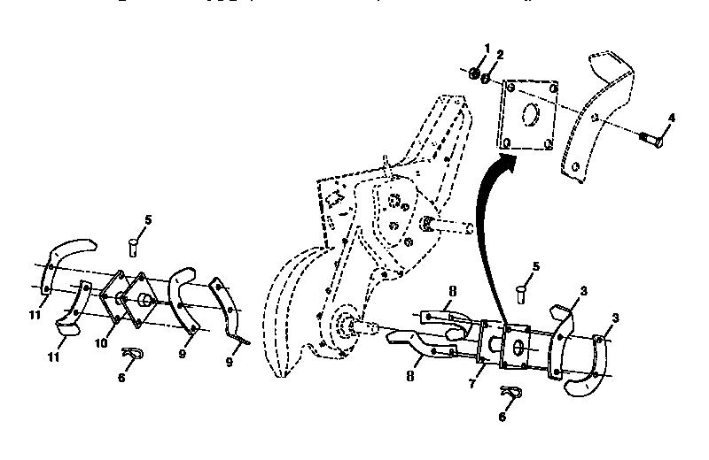 Craftsman model 917295552 rear tine, gas tiller genuine parts