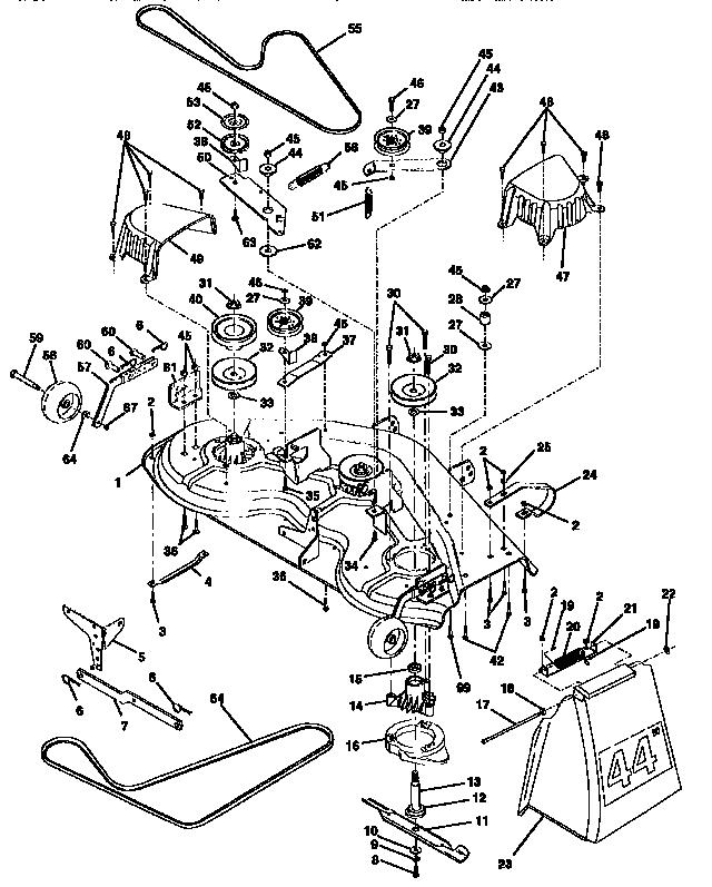 Craftsman model 917250481 lawn, tractor genuine parts