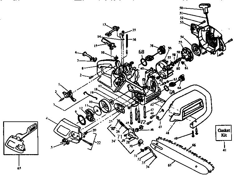 Craftsman model 358352160 chainsaw, gas genuine parts