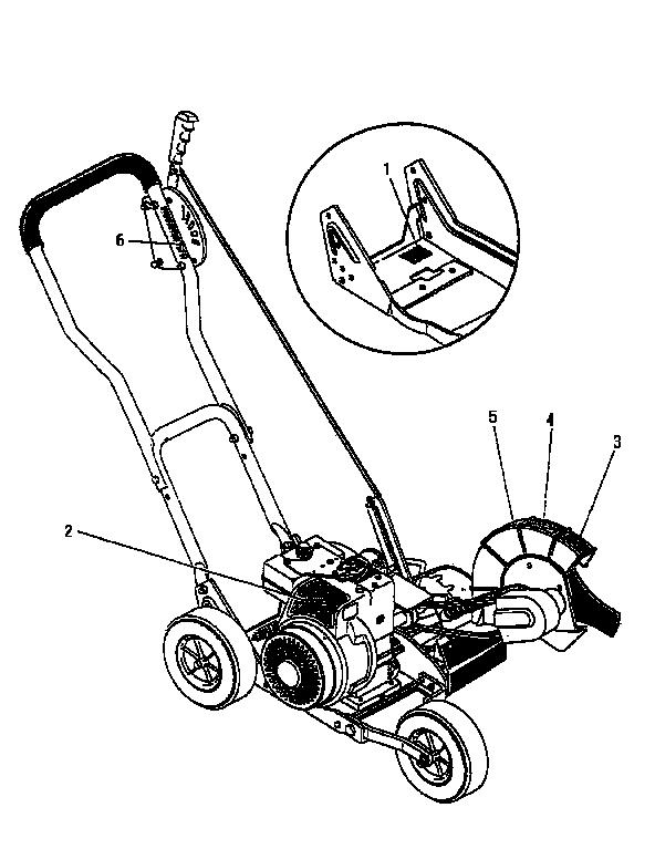 Craftsman model 536797542 edger genuine parts
