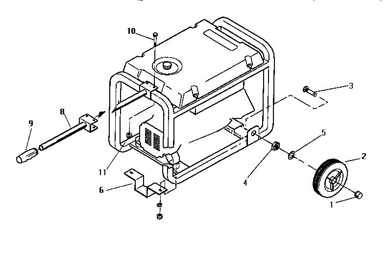Craftsman model 580327252 generator genuine parts