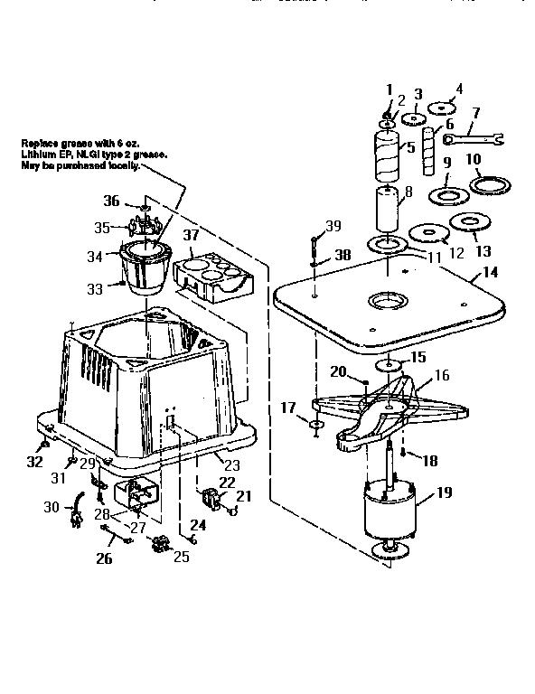 Craftsman model 113225906 sander genuine parts