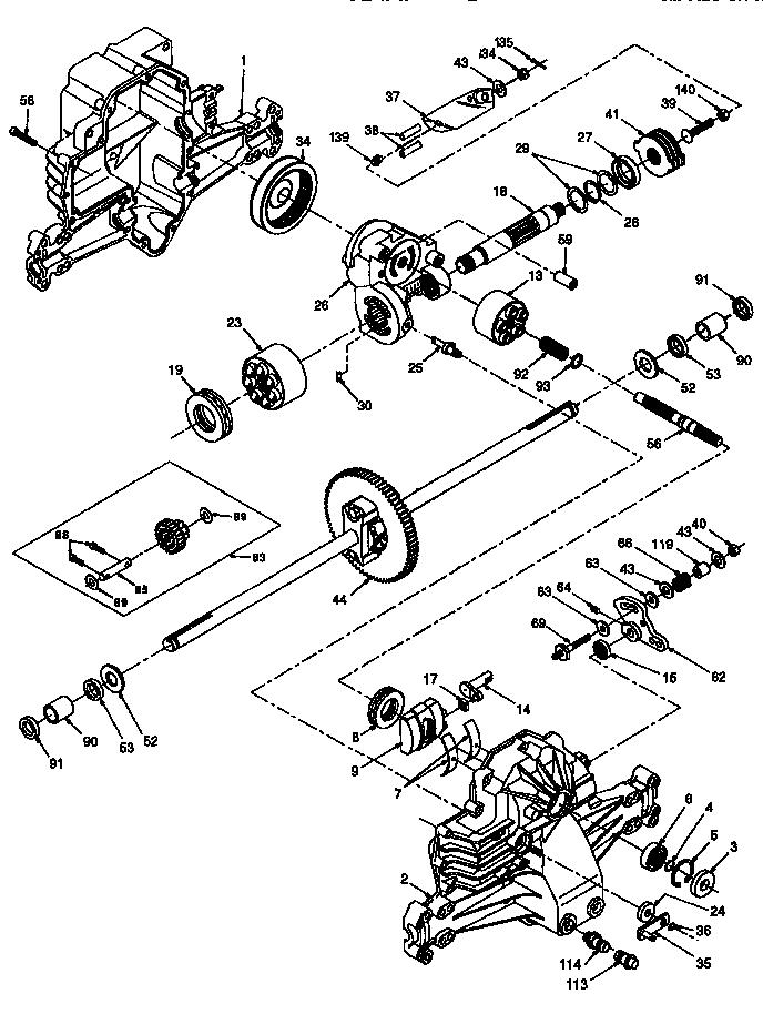 Craftsman model 917252532 lawn, tractor genuine parts