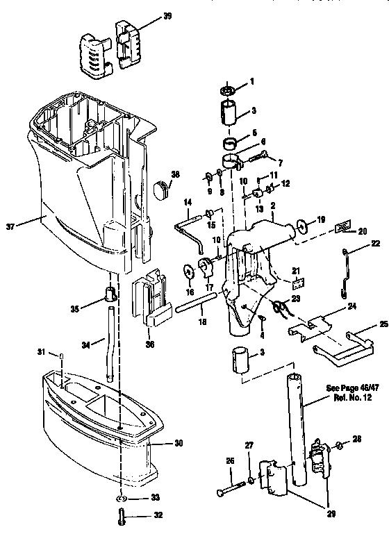 Craftsman model 225582500 boat motor gas genuine parts
