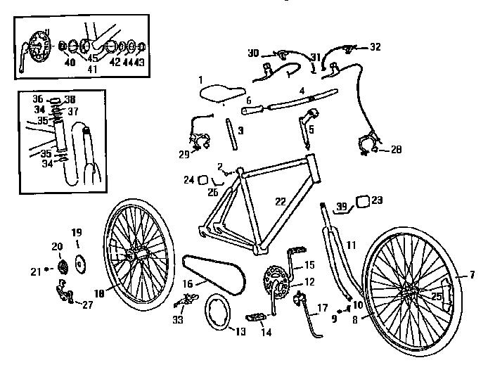 Roadmaster model R3820SRA bicycles genuine parts