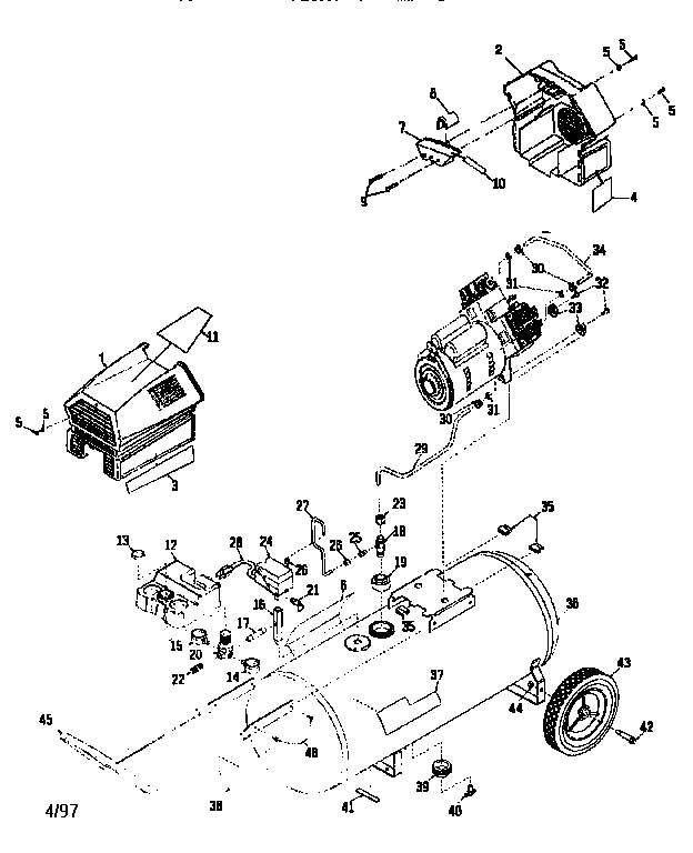 Craftsman model 919152932 air compressor genuine parts