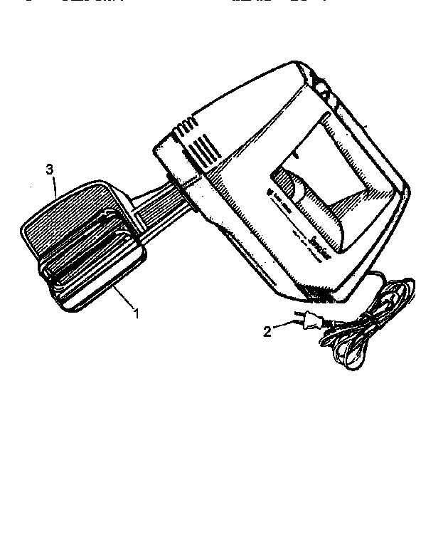 Black-Decker model M175 TYPE 1 mixer- food genuine parts