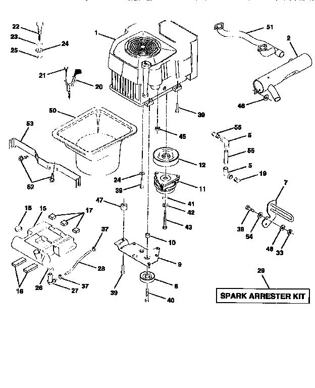 Craftsman model 917251510 lawn, tractor genuine parts