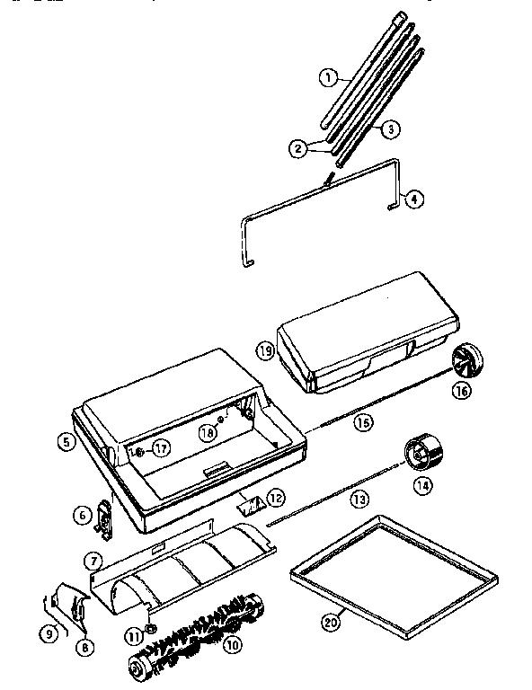 Bissell model 2100 (1995) carpet/floor sweepers genuine parts