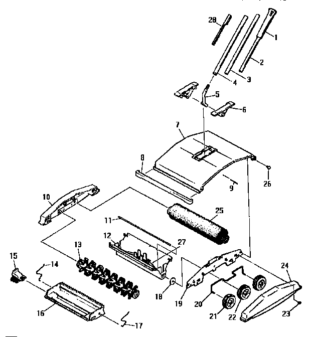 Bissell model 2600 (1995) carpet/floor sweepers genuine parts