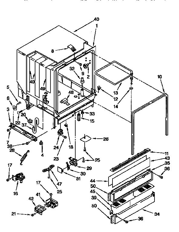 Kenmore model 6651684993 dishwasher genuine parts