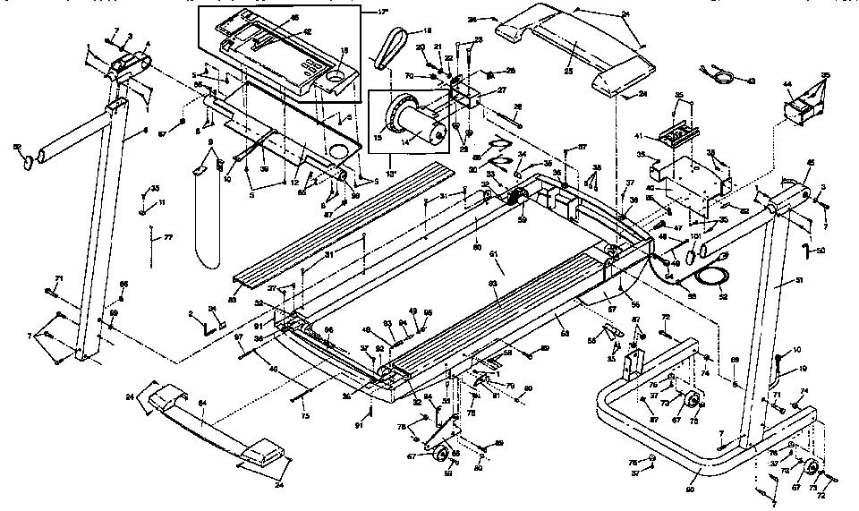 Lifestyler model 831297530 treadmill genuine parts