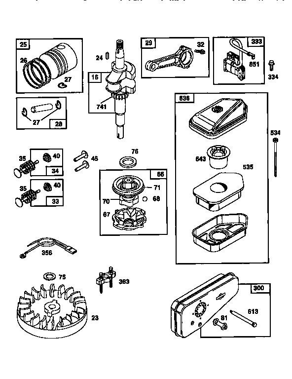Briggs-Stratton model 10A902-0182-03 engine genuine parts