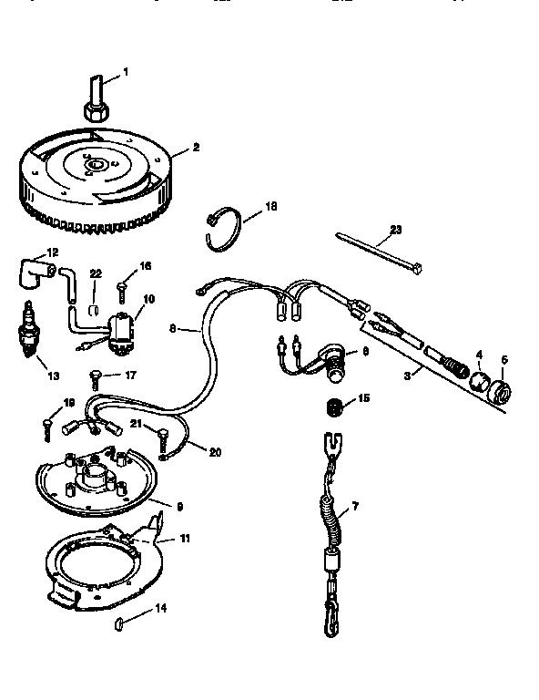 Craftsman model 225581998 boat motor gas genuine parts