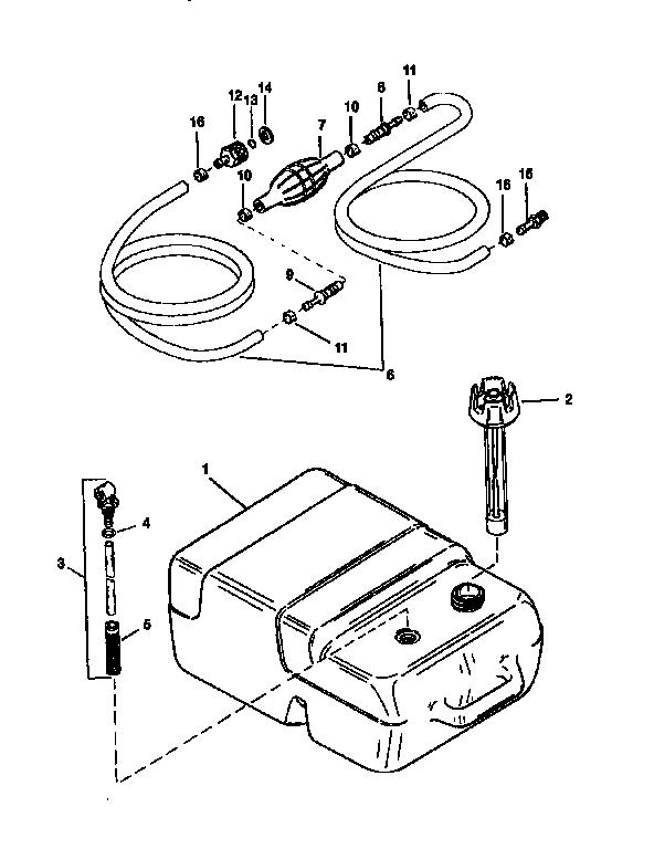Craftsman model 225581498 boat motor gas genuine parts