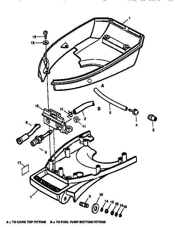 Craftsman model 225587496 boat motor gas genuine parts