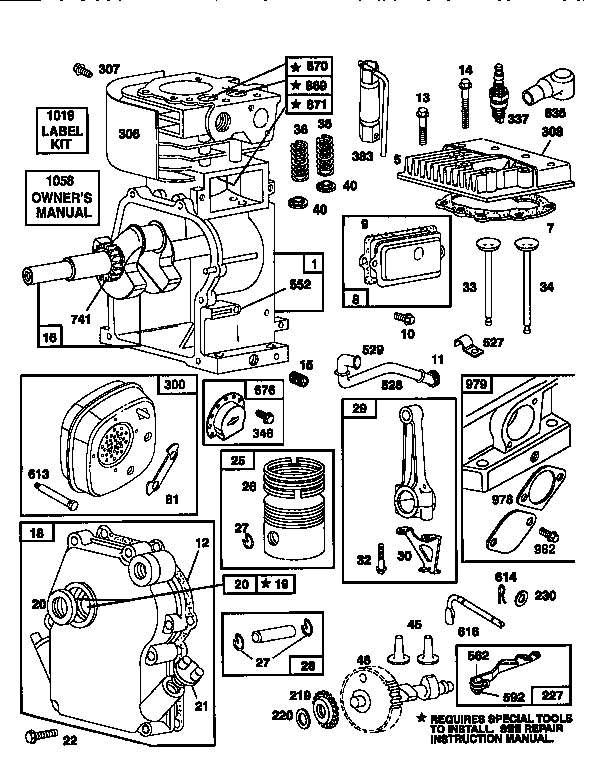 Briggs-Stratton model 135202-0706-A1 engine genuine parts