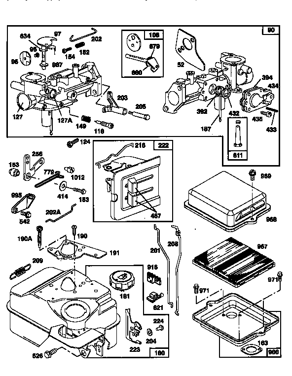 Briggs-Stratton model 135202-0706-A1 engine genuine parts