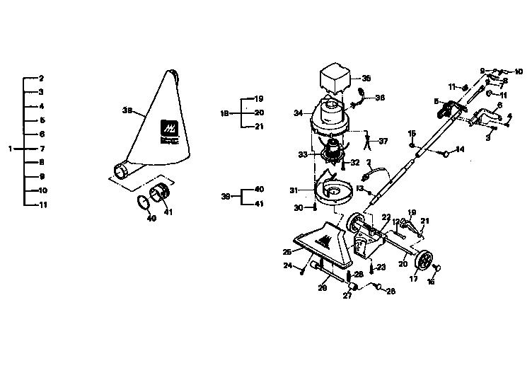 Mcculloch model MAC VAC 1911A lawn vacuum genuine parts