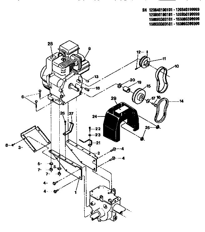 Troybilt model 15009 rear tine, gas tiller genuine parts