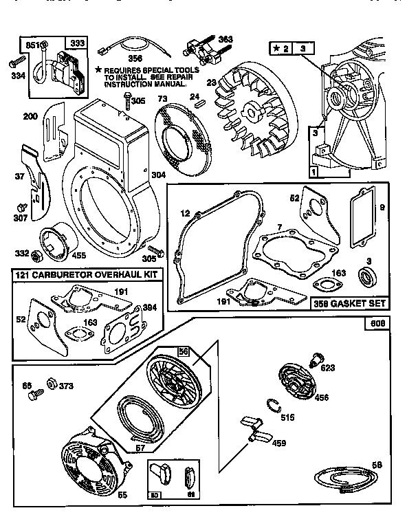 Briggs-Stratton model 135202-0237-01 engine genuine parts