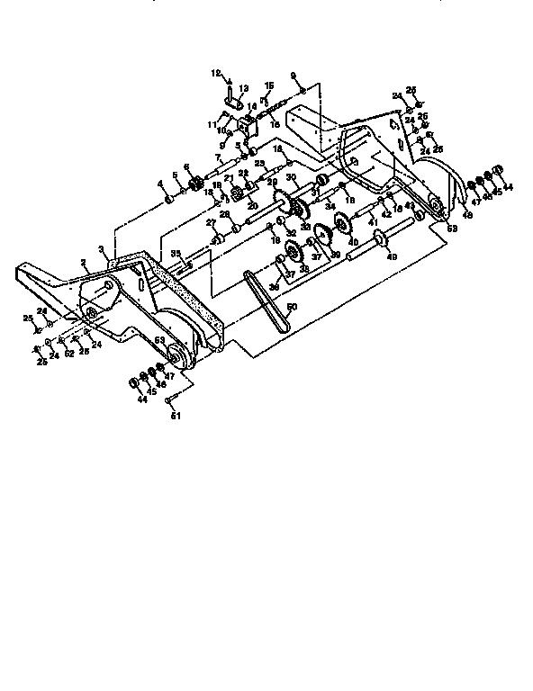 Craftsman model 917295852 rear tine, gas tiller genuine parts