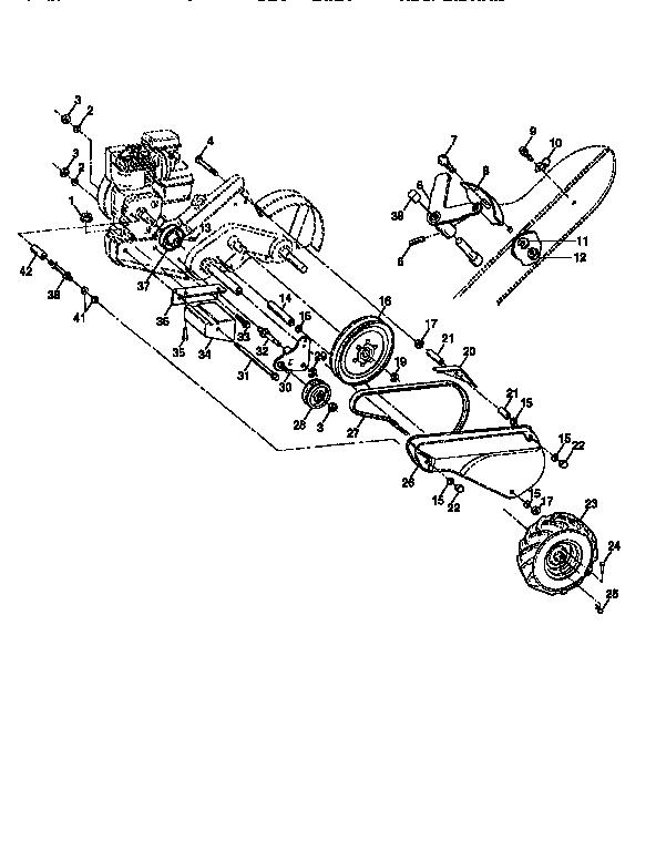 Craftsman model 917295653 rear tine, gas tiller genuine parts