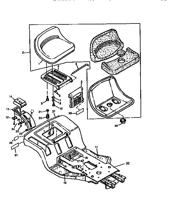 Sabre model 1646 lawn, tractor genuine parts