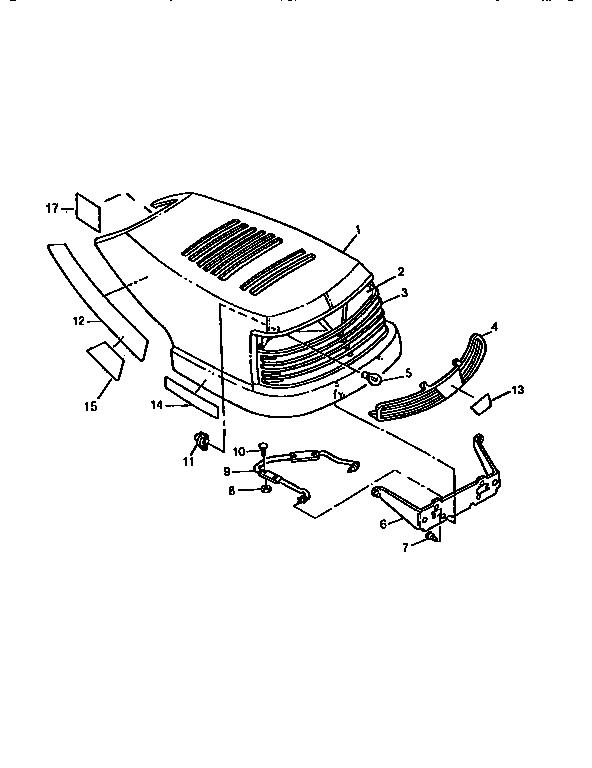 Sabre model 1546 lawn, tractor genuine parts