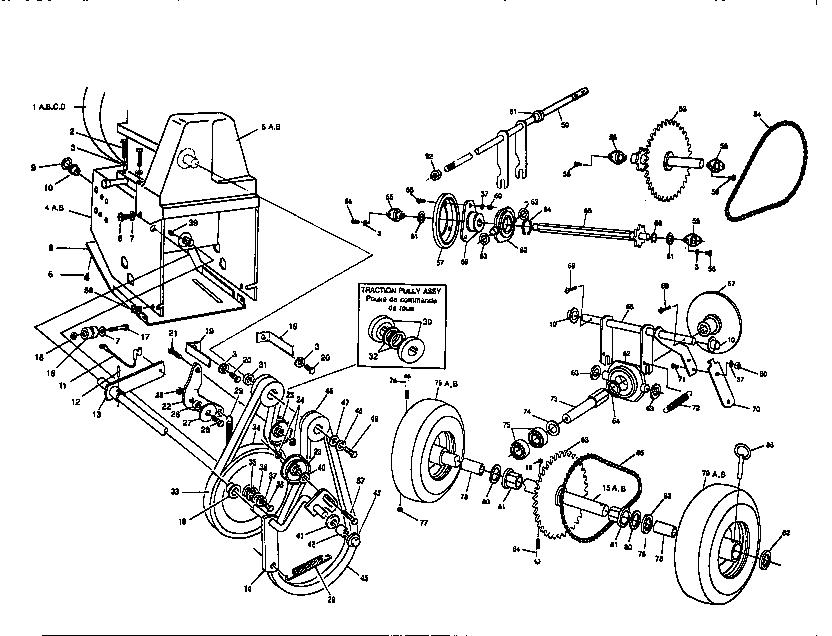 Dynamark model DY-824-1 snowthrower, gas genuine parts