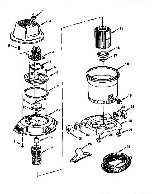 Craftsman model 113177040 wet/dry vacuum genuine parts