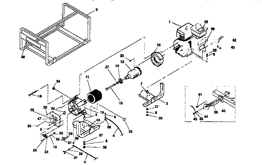 Craftsman model 580326700 generator genuine parts