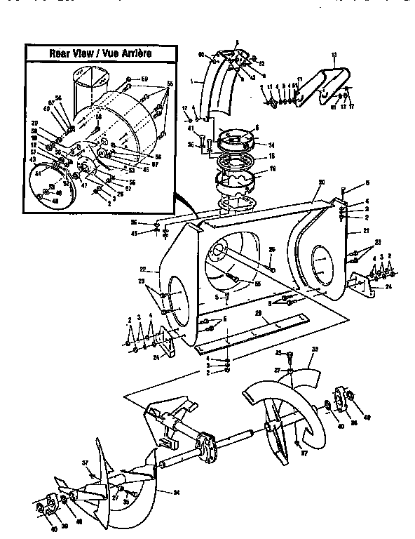 Canadiana model F2814-000 snowthrower, gas genuine parts