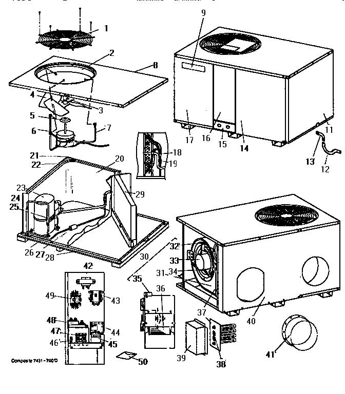 Coleman-Evcon model CPCP0301BA air-conditioner/heat pump