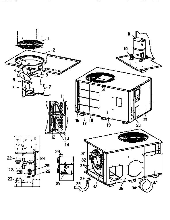 Coleman-Evcon model CPCH0361BA air-conditioner/heat pump